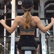 18 years old Fitness girl Sophie Back workout