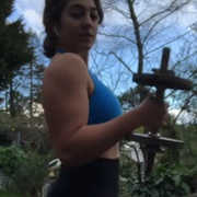 19 years old Fitness girl Elli Biceps workout