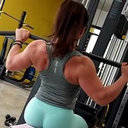19 years old Fitness girl Kristina Back workout