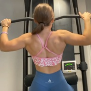 16 years old Fitness girl Melisa Back workout