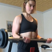 18 years old Fitness girl Sarah Biceps curls