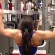 17 years old Fitness girl Tessa Back workout