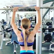 13 years old Fitness girl Annelise Workout muscles