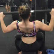 15 years old Fitness girl Ishbel Back workout