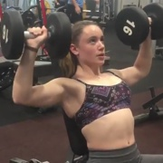 15 years old Fitness girl Ishbel Workout muscles