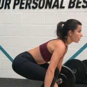 16 years old Fitness girl Natalie Deadlifts