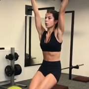 16 years old Fitness girl Natalie Workout muscles