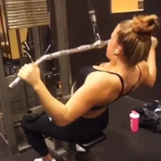 17 years old Fitness girl Julia Back workout