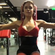 17 years old Fitness girl Beatriz Workout muscles