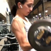 14 years old Fitness girl Becca Biceps curls