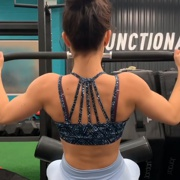 17 years old Fitness girl Natalie Back workout