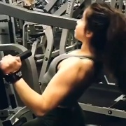 17 years old Fitness girl Ally Workout muscles
