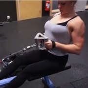 17 years old Fitness girl Julia Workout muscles