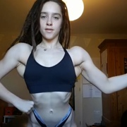 17 years old Fitness girl Ally Posing