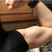 19 years old Fitness girl Sydona Flexing muscles