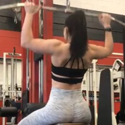 19 years old Fitness girl Sydona Back workout