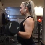 19 years old Fitness girl Elvira Biceps workout
