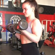 19 years old Fitness girl Sydona Biceps workout
