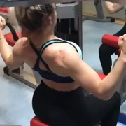 18 years old Fitness girl Lorena Back workout