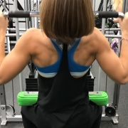 17 years old Fitness girl Delaney Back workout