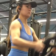 17 years old Fitness girl Sophie Workout muscles