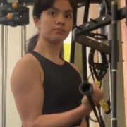 19 years old Wrestler Zuzely Biceps workout