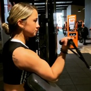 18 years old Fitness girl Shana Biceps workout