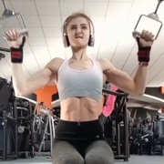 17 years old Fitness girl Alexia Workout muscles