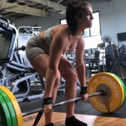 19 years old Fitness girl Elli Deadlifts